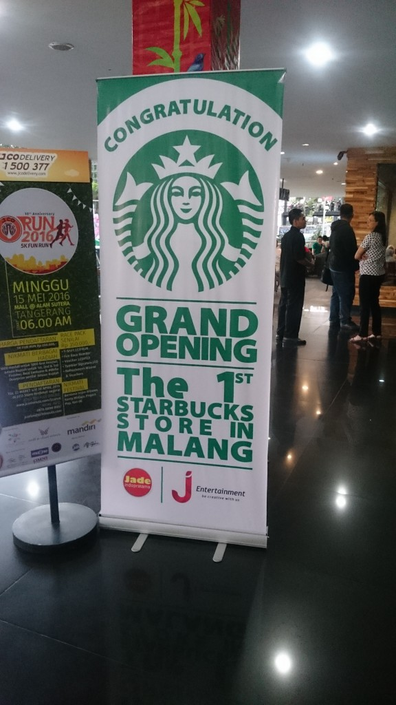 starbucks malang city point sudah buka